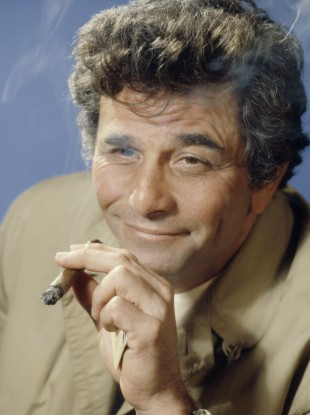 Peter Falk as legendary TV detective Lt Columbo.
