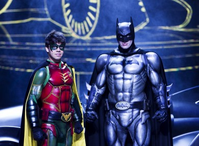 Karel Simons as Robin and Nick Court as Batman in 'Batman Live World Arena Tour' which runs at the 02 in Dublin until Saturday.
