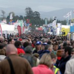 Large crowds attend the first day of the National Ploughing Championships in Athy, Co Kildare.