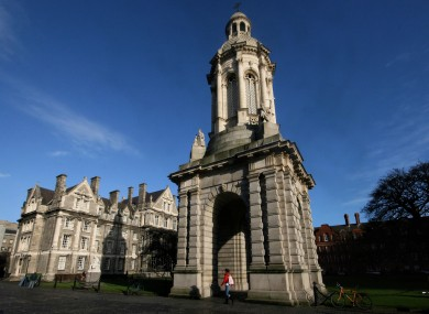 The campus of Trinity College in Dublin