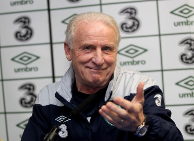 Giovanni Trapattoni: will lead Ireland against Croatia, Spain and Italy.