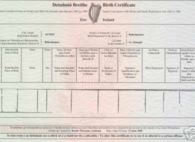 birth certificate vic how to read