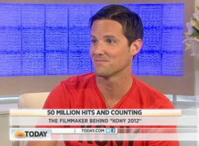 Jason Russell, the filmmaker behind the Kony 2012 campaign, on American television earlier today.