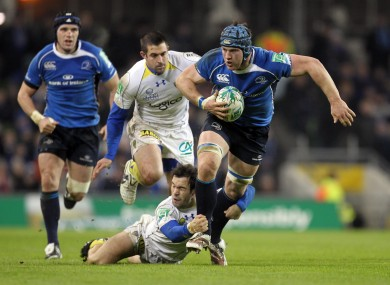 Morgan Parra tries to slow down Sean O'Brien during the team's last clash in 2010.