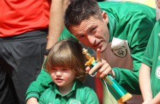 Caption competition: what's Robbie Keane saying to Robbie Jr?