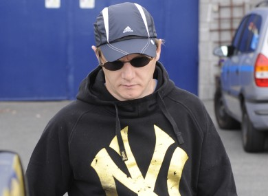 Larry Murphy leaving Arbour Hill prison in 2010.