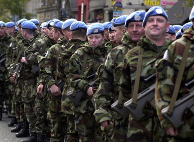 The Irish Army commemorating involvement in the UNIFIL mission in the Lebanon in 2001.