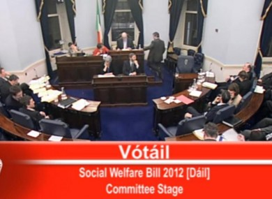 The vote in the Seanad this evening