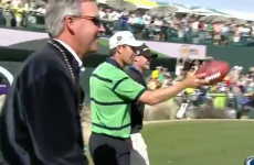 VIDEO: Padraig Harrington kicks a sweet field goal at the Phoenix Open