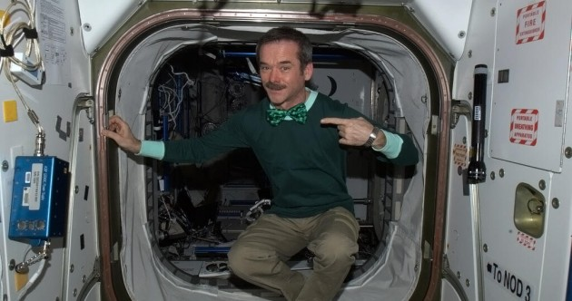 Here's how they're celebrating St Patrick's Day in space