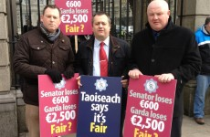 GRA protest at the Dáil over cuts to pay