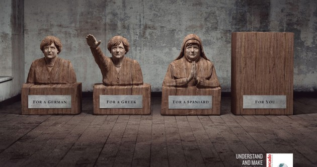 Business magazine compares Angela Merkel to Hitler in ad