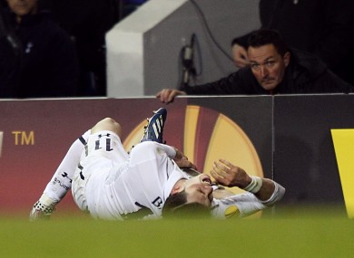 Spurs' Gareth Bale is likely to miss the next few weeks through injury.