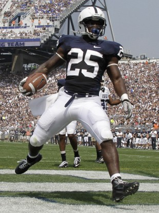 The navy and white jerseys made famous by Penn State university.