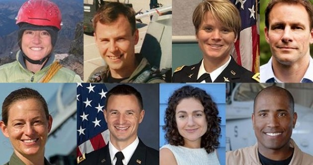 These people are NASA's eight new astronauts