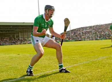 Limerick's Declan Hannon celebrates at the final whistle.