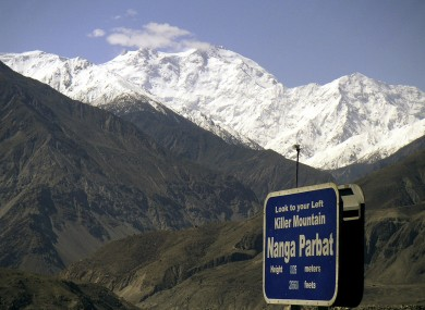 File photo of Nanga Parbat where gunmen wearing police uniforms killed nine foreign tourists.