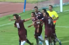 VIDEO: Referee decks player after awarding controversial penalty