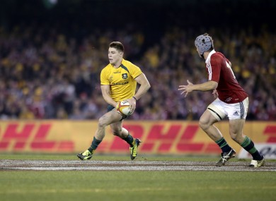 O'Connor in action against the Lions.