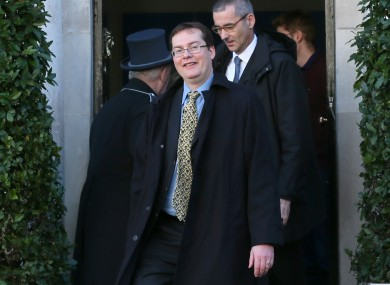 The IMF's current representative in Ireland, Peter Breuer leave the Merrion Hotel in Dublin.