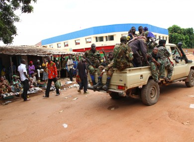 Rebel soldiers at the central market in Bangui, the capital of the Central African Republic, earlier this year.