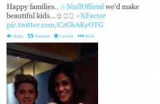 Tweet Sweeper: Glenda (32) tweets Niall (20) about making babies