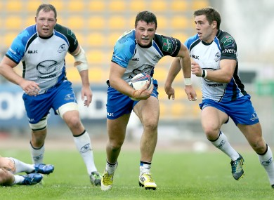 Henshaw, centre, in the Heineken Cup last month.