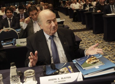 Time to shine: Sepp Blatter.