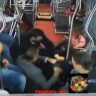 Bus passengers join together to overpower armed robber