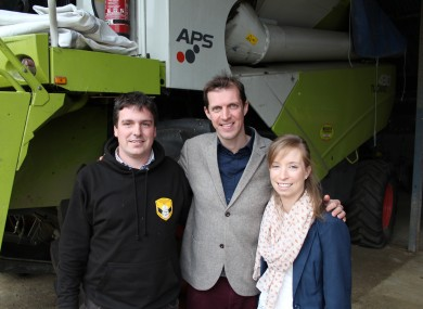 Darragh McCullough with William and Mairead