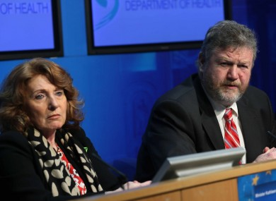 Kathleen Lynch with James Reilly (File photo)
