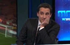 VIDEO: Gary Neville laughs when Carragher suggests Liverpool can win the league