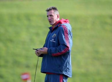 Penney during Munster training.