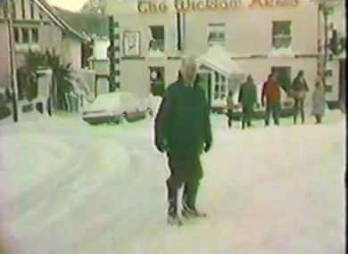The Big Snow of 1982 in Delgany, Co. Wicklow.