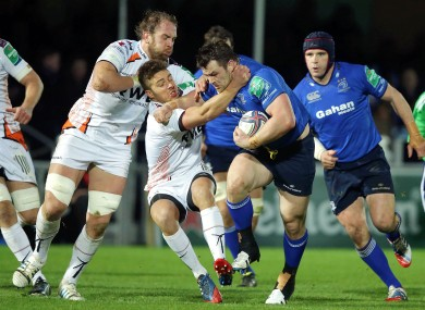 Cian Healy carries strongly at the RDS.