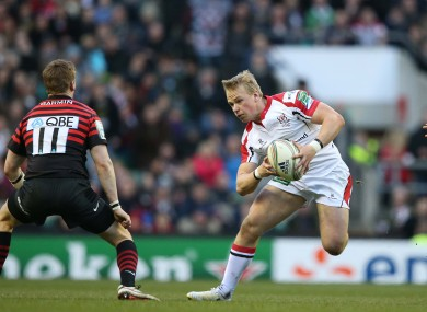 Luke Marshall facing Saracens in last season's quarter-final.