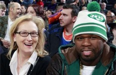 Meryl Streep and 50 Cent sat next to each other at a basketball game