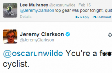 Jeremy Clarkson's response to this cyclist's Top Gear complaint is priceless