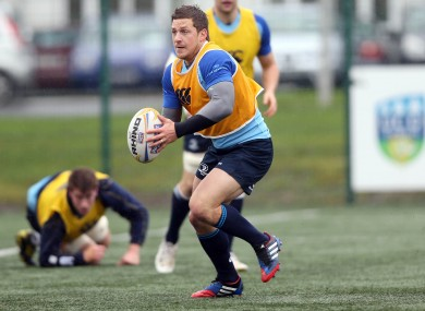 Jimmy Gopperth at Leinster training in UCD.