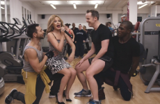 Kylie Minogue surprises mega-fan in gym, things get mega awkward