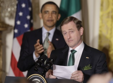 Enda Kenny is eyeing-up a trip to three US cities next month