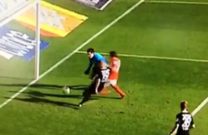 Defender kicks ball off goalkeeper's face for slapstick Bundesliga OG