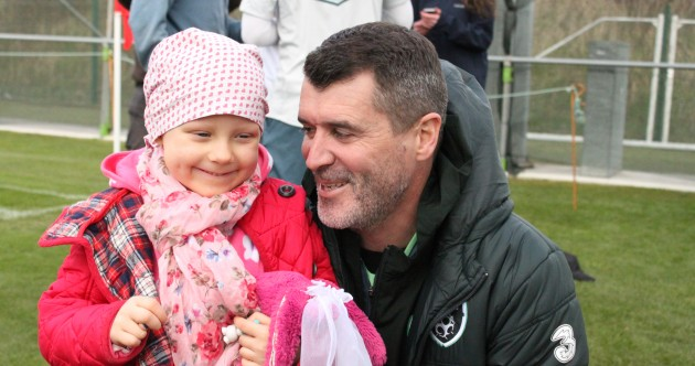 Roy Keane and Irish football stars welcome four-year-old cancer patient Merryn Lacy to squad training