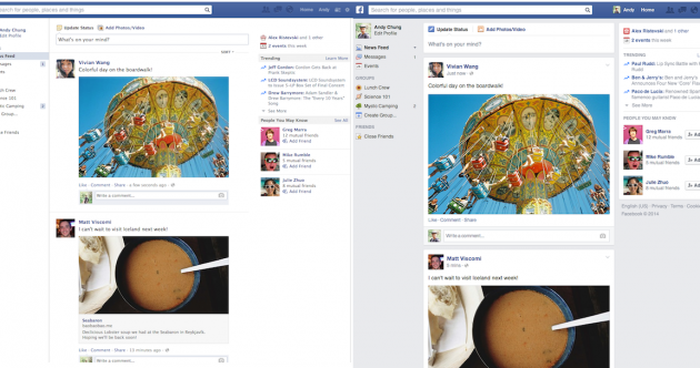 Spot the difference: Facebook rolls out updated news feed