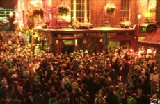 This was Temple Bar at the height of things last night