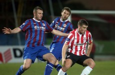 Derry remain winless but earn point at home to Pat's