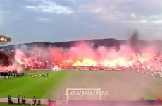 Ring of fire: PAOK fans do their best to intimidate rivals Olympiakos