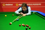 Ken Doherty lines up a pot in the Sunday session.
