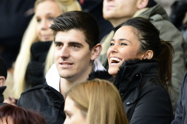 Thibaut Courtois with cute, Girlfriend