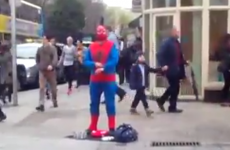 Grafton Street's Spiderman impersonator is REALLY something